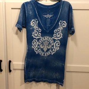 Royal Blue Affliction t-shirt-XL